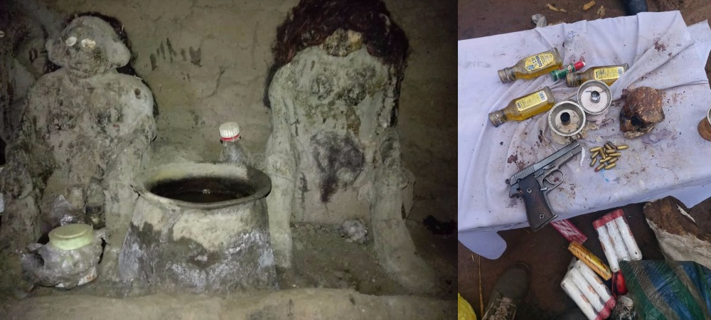 Notorious Criminal, Gana Escapes Arrest As Nigerian Soldiers Raid His Shrine In Benue [Photos] 2