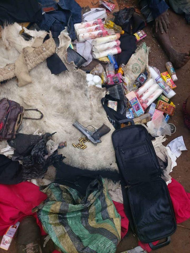 Notorious Criminal, Gana Escapes Arrest As Nigerian Soldiers Raid His Shrine In Benue [Photos] 4