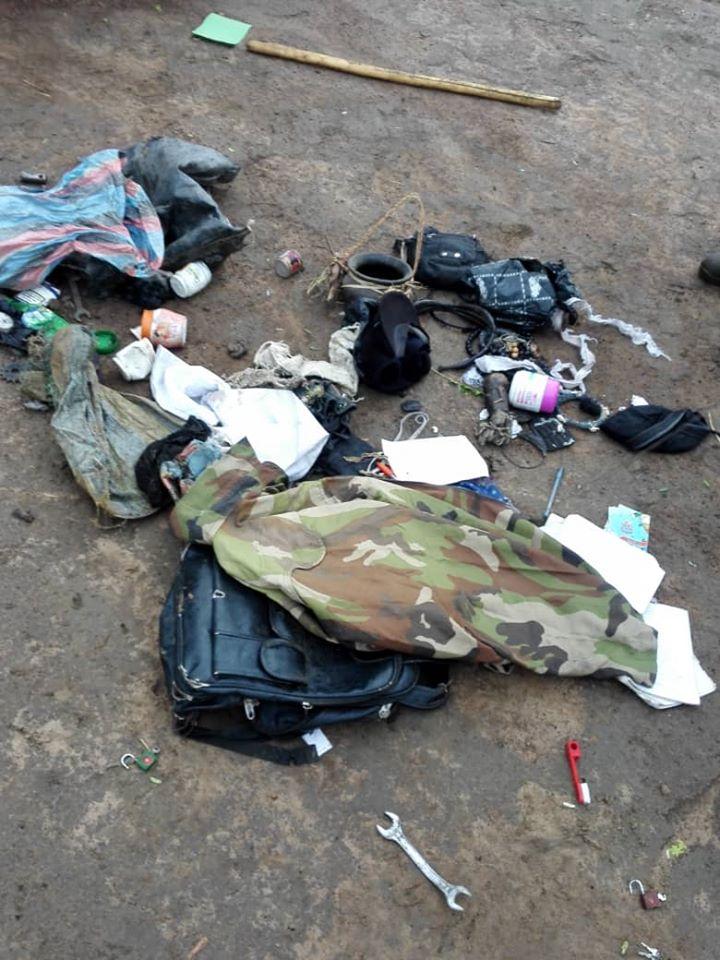 Notorious Criminal, Gana Escapes Arrest As Nigerian Soldiers Raid His Shrine In Benue [Photos] 6