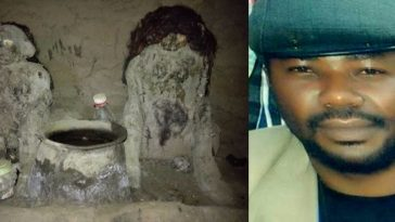 Notorious Criminal, Gana Escapes Arrest As Nigerian Soldiers Raid His Shrine In Benue [Photos] 7