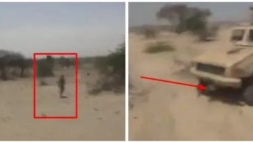 Nigerian Army Ambush Boko Haram Terrorist, Run Over Him With Armoured Personel Carrier [Video] 5