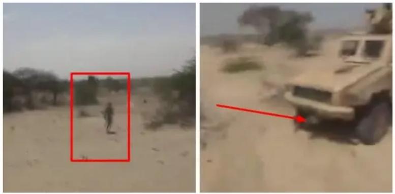 Nigerian Army Ambush Boko Haram Terrorist, Run Over Him With Armoured Personel Carrier [Video] 1