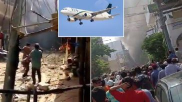 BREAKING: Airplane Carrying 107 People Crashes Into Houses Near Airport In Pakistan [Video] 4