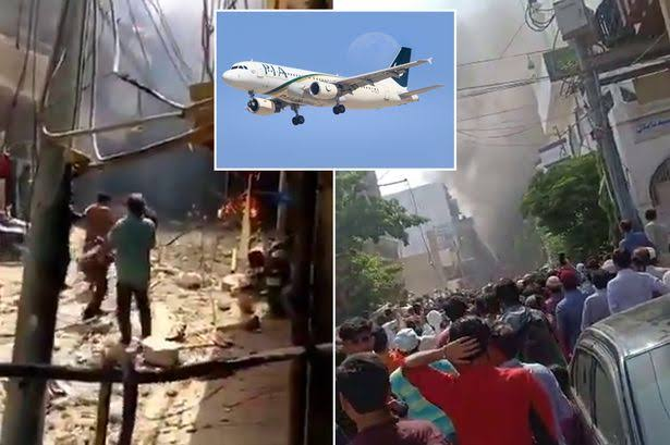 BREAKING: Airplane Carrying 107 People Crashes Into Houses Near Airport In Pakistan [Video] 1
