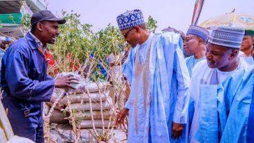 """Produce More, Nigeria Has No Money To Import Food"" - President Buhari Tells Farmers 3"