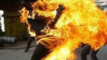 Young Man Sets His Pregnant Sister Ablaze For Slapping Their Mother During Argument In Lagos 1