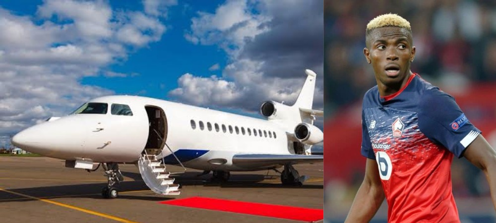 Victor Osimhen Gets Private Jet From French Club Lille To Fly Back To Nigeria For His Father's Burial 1