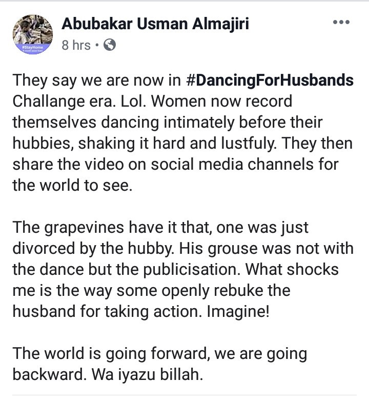 Nigerian Man Divorces His Wife Of 19-Years For Sharing Her Dancing Video On Social Media 4