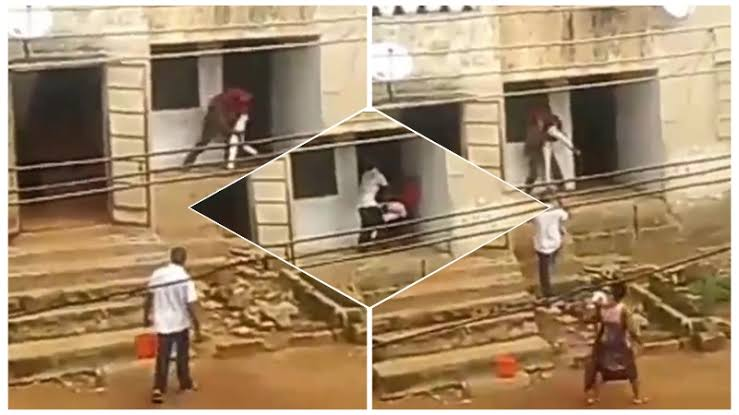 Young Boy Publicly Engages In Physical Fight With His Father Over Feeding Money In Abia [Video] 1