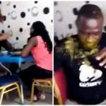 Wife Slaps Husband Multiple Times After Catching Him With Side Chick, Pours Soup On Him [Video] 28