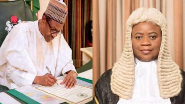 Buhari Finally Asks Senate To Confirm Justice Dongban-Mensem As Appeal Court President 7