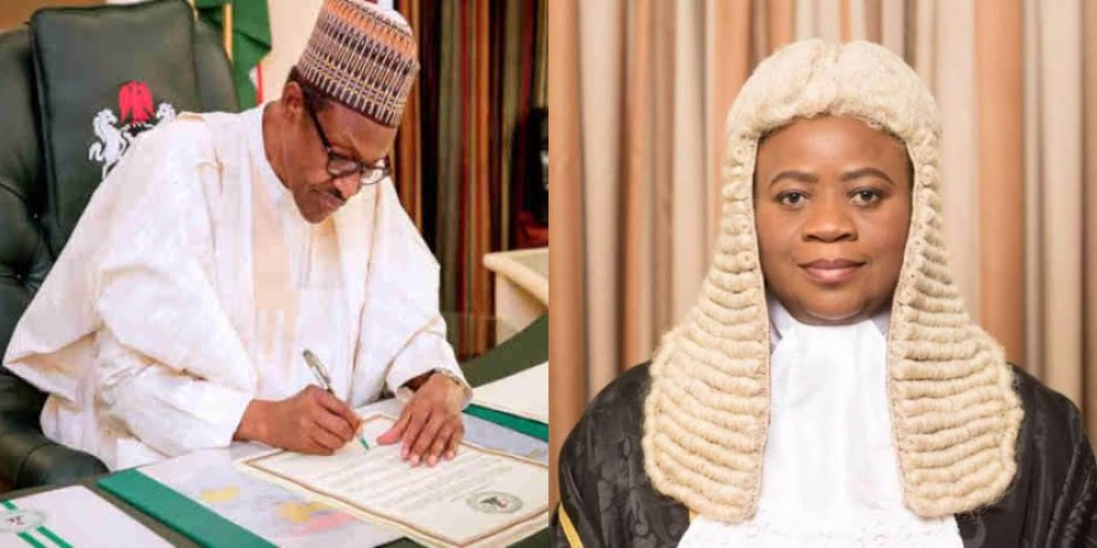 Buhari Finally Asks Senate To Confirm Justice Dongban-Mensem As Appeal Court President 1