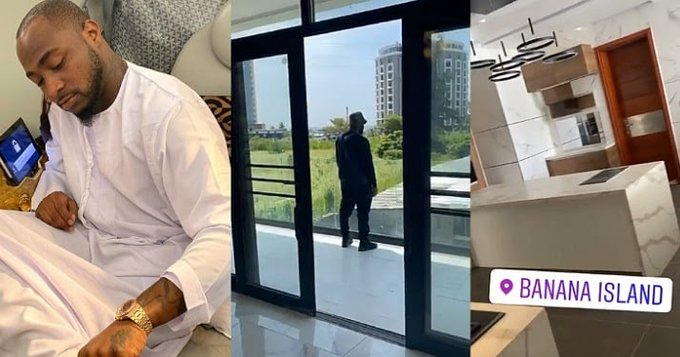 Davido Show Off His Newly Acquired Multi-Million Naira Mansion In Banana Island, Lagos [Video] 1