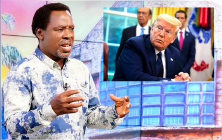 """""""More Trouble Is Coming End Of June"""" - Prophet T.B Joshua Warns US President, Donald Trump 1"""
