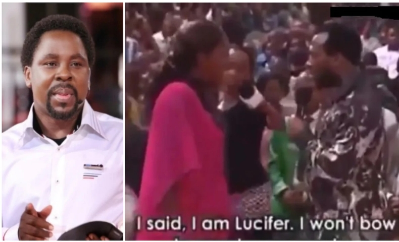 Nigerians Reacts To Viral Video Of Prophet T.B Joshua Having Heated Argument With Lucifer 1