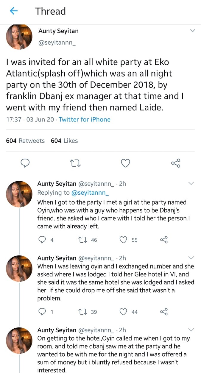 Nigerian Lady Accuses DBanj Of Rαping Her Two Years Ago After He Shared Anti-Rαpe Post On IG 6