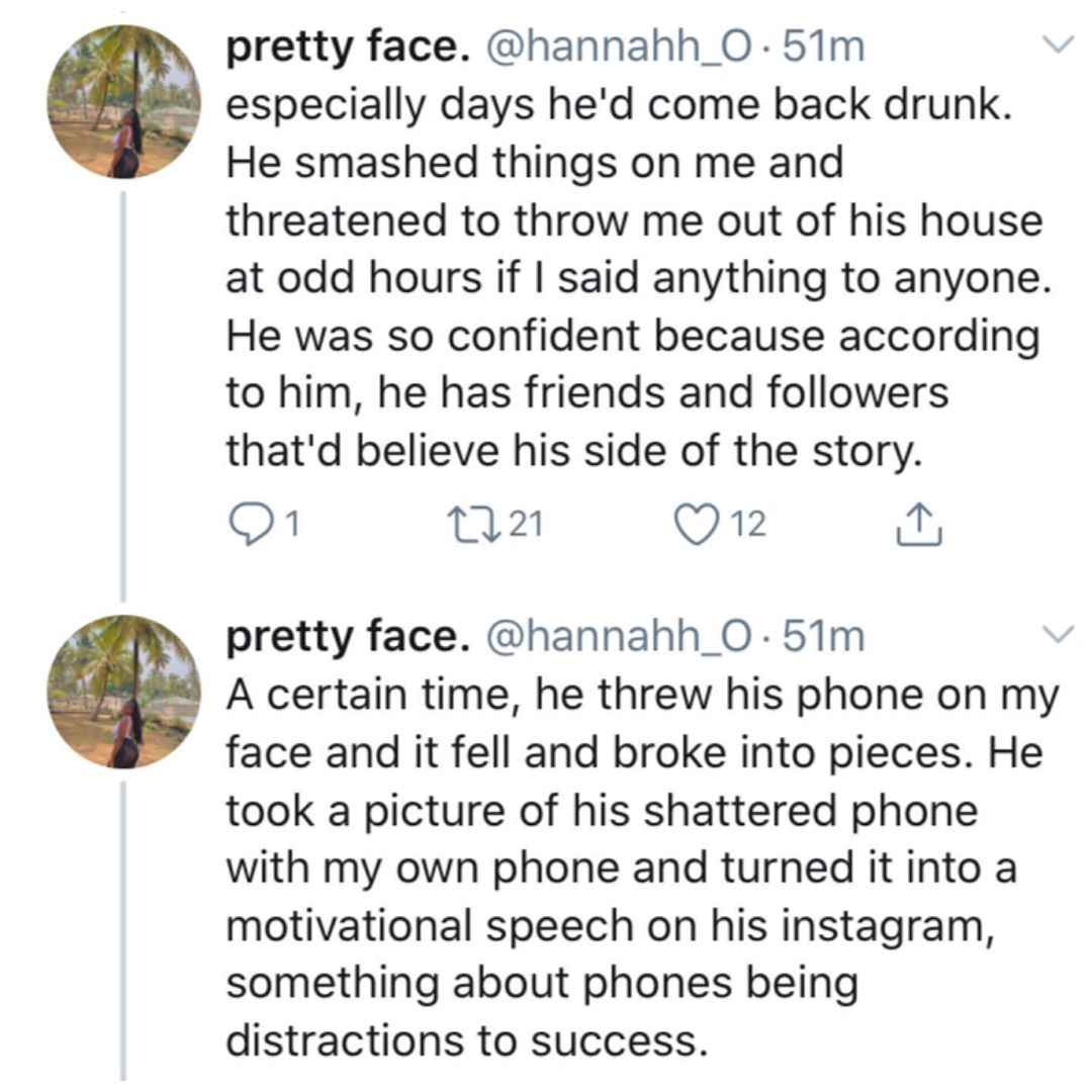 Comedian Victor Ebiye Accused Of Physical Abuse And Sexual Assault By His Ex-Girlfriend 3