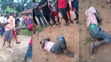 Man Beaten Mercilessly After Being Caught Defiling 6-Year-Old Girl Inside Church In Benue [Photos] 1