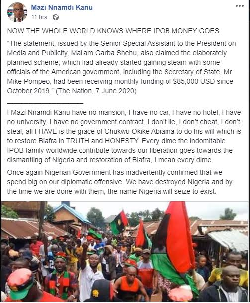 """""""Nigeria Will Cease To Exist By The Time We Are Done"""" – Nnamdi Kanu Fires Back At Presidency 2"""