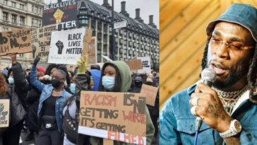 Protesters Dance To Burna Boy's Song During Black Lives Matter Protest In US, UK And Germany [Video] 4