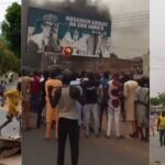 Katsina Youths Burns President Buhari's Billboard, Protests Repeated Attacks By Bandits [Photos/Video] 28
