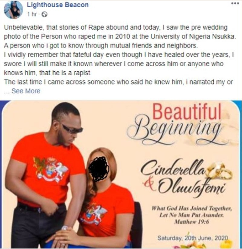 Nigerian Lady Calls Out Former Schoolmate Who Allegedly Rαped Her Just Few Days To His Wedding 2