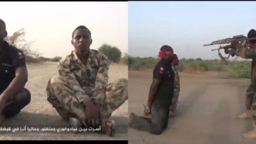 Watch As Boko Haram Executes Abducted Soldier And Policeman In New Video 3
