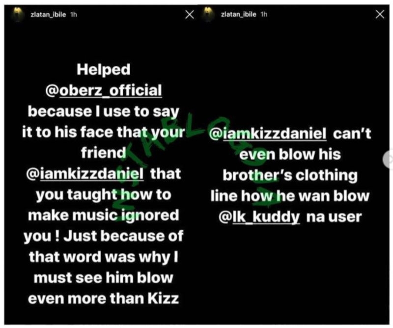Zlatan Ibile Calls Out His Colleagues, Kizz Daniel, Joeboy And Burnaboy 2