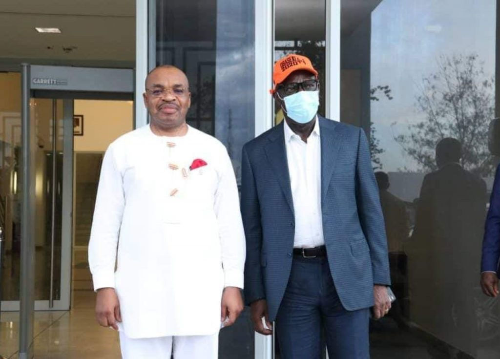 Edo Governorship: Obaseki Visits Emmanuel In Akwa Ibom, Hours After Meeting Wike In Rivers 1