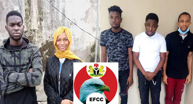 EFCC Arrests Social Media Influencer, Adeherself And Four Others For Internet Fraud In Lagos 1