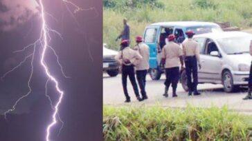 Mysterious Thunder Lightning Strikes Dead Three FRSC Officials In Ogun 1