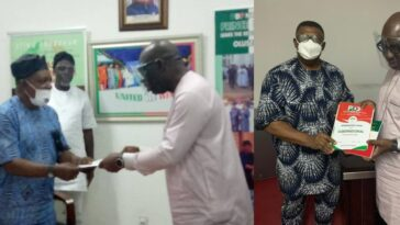 Obaseki Obtains PDP Governorship Nomination Form, Says APC Is Full Of Confusion And Commotion 6