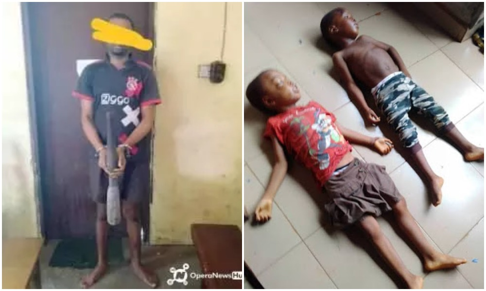 Man Arrested For Killing His Two Children By Hitting Them With A Pestle While They Were Sleeping 1