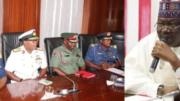 "INSECURITY: ""Sit Up Or Get Sacked"" - Senate President, Ahmed Lawan Warns Service Chiefs 5"