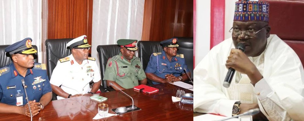 "INSECURITY: ""Sit Up Or Get Sacked"" - Senate President, Ahmed Lawan Warns Service Chiefs 1"