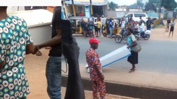 Woman Reportedly Buys A Coffin For Her Husband As Gift On Father's Day In Anambra State 1