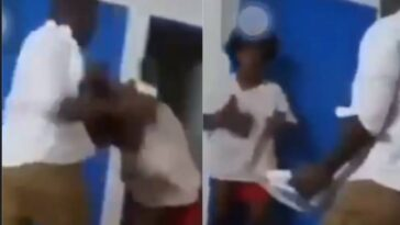 Man Caught On Camera Hitting His Wife's Head With Electric Iron In Front Of Their Children [Video] 3