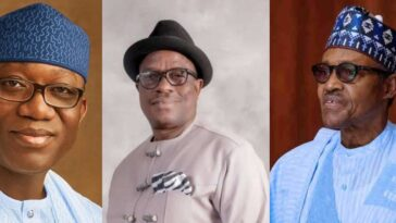 APC Crises: Governor Fayemi And Victor Giadom Fails In Their Attempts To Meet President Buhari 6