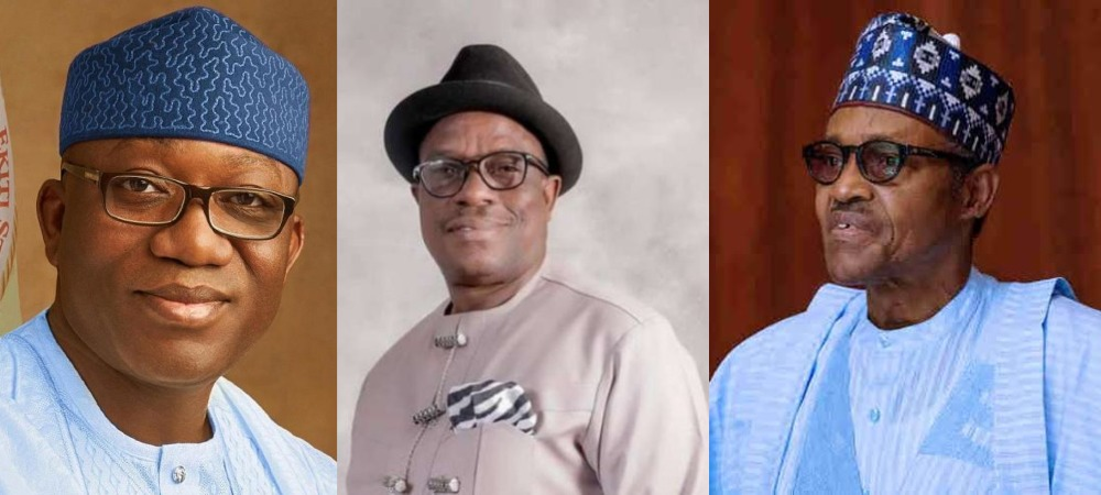 APC Crises: Governor Fayemi And Victor Giadom Fails In Their Attempts To Meet President Buhari 1