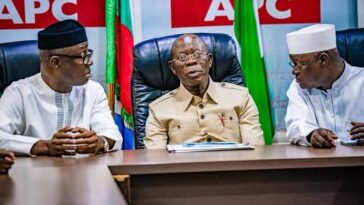 APC Crises: Oshiomhole's Faction Of NWC Turns Down NEC Meeting With Buhari And Victor Giadom 2