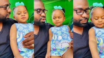 Viral Video Of Nigerian Dad Teaching His Little Daughter How To Cheat During School Examination 6