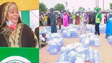 Bauchi First Lady Empowers Women With Bags Of Sachet Water As Business Start-Ups [Photos] 2
