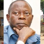 """""""We Are Tired Of Him"""" - APC Pulls Down Oshiomhole's Posters And Portraits At National Secretariat 27"""