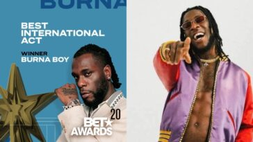 BET Awards: Burna Boy Makes History, Wins Best International Act Twice In A Row [Video] 7