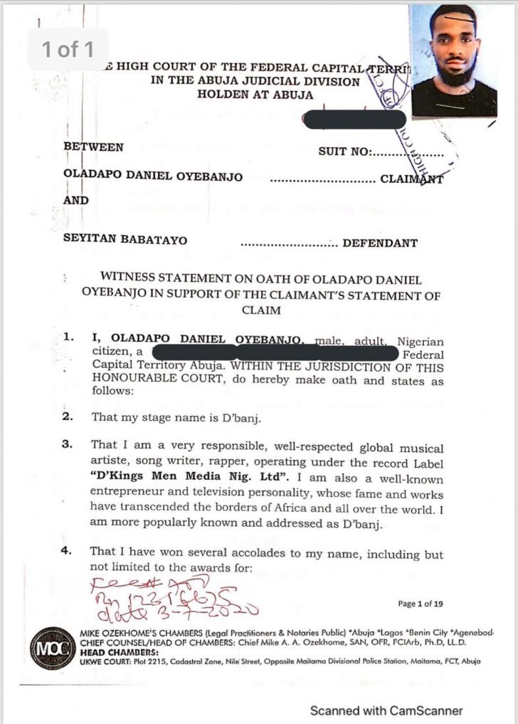 Dbanj's Lawyer, Mike Ozekhome Sues Seyitan Babatayo For N1.5 Billion Over Rαpe Allegation 3