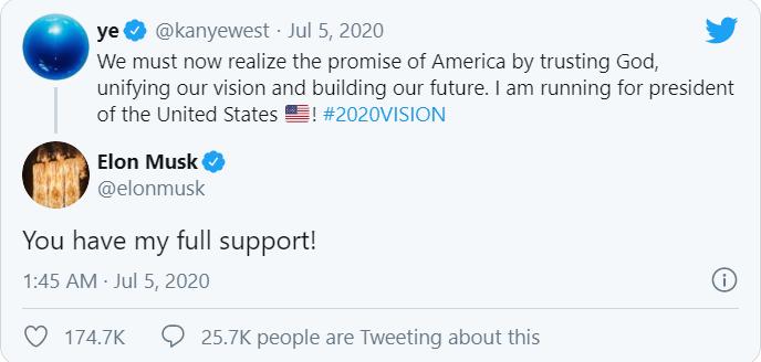 President Kanye West: Kanye West announce he's running for US president - gets the backing of Elon Musk 2