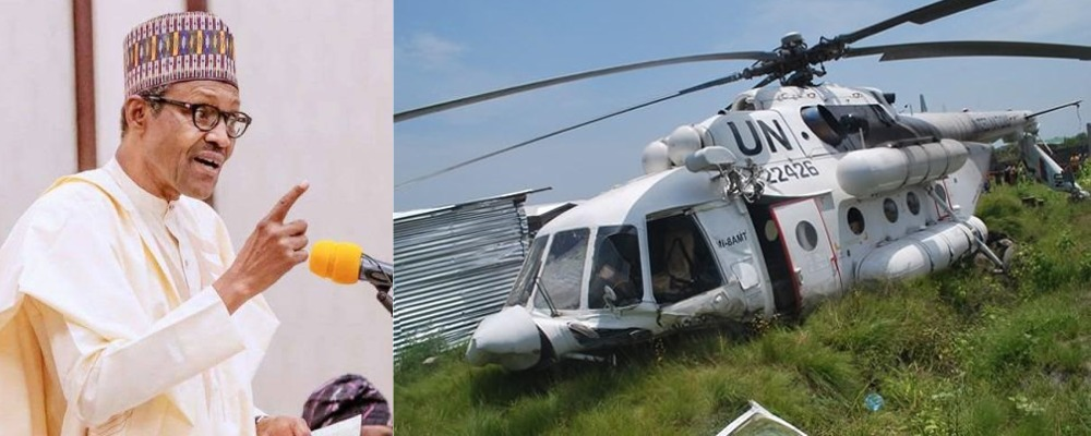 President Buhari Reacts As Boko Haram Attacks UN Helicopter, Kill 5-Year-Old Child, Others 1