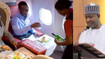 Nigeria's Aviation Minster, Hadi Sirika Says Food Will No Longer Be Served On Domestic Flights 5