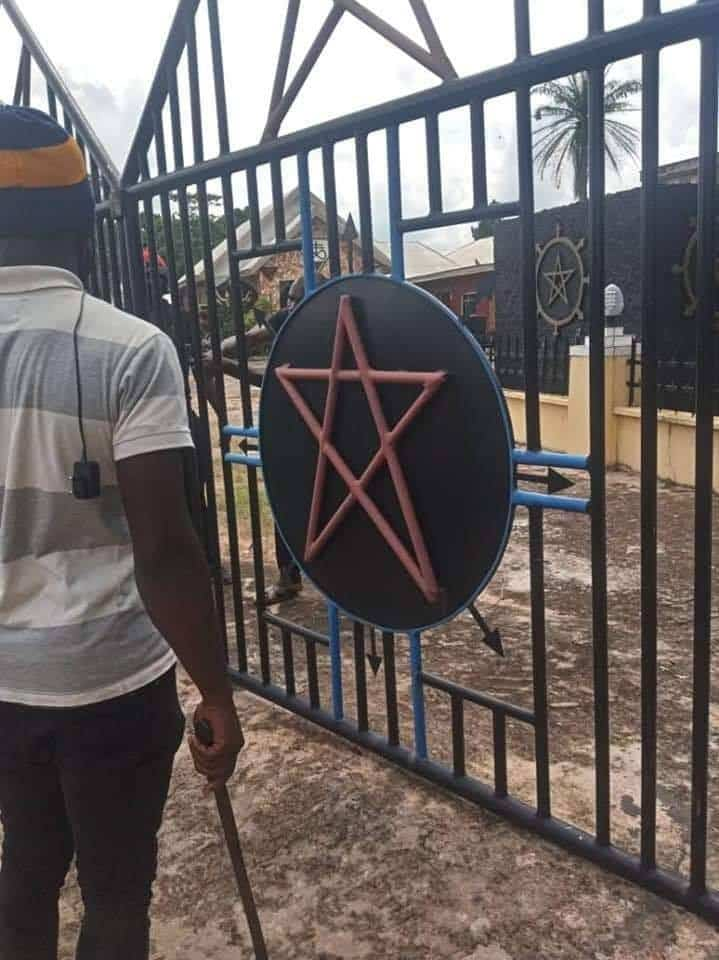 Angry Youths Destroy Church Of Satan In Abia, Founder Arrested [Photos] 5