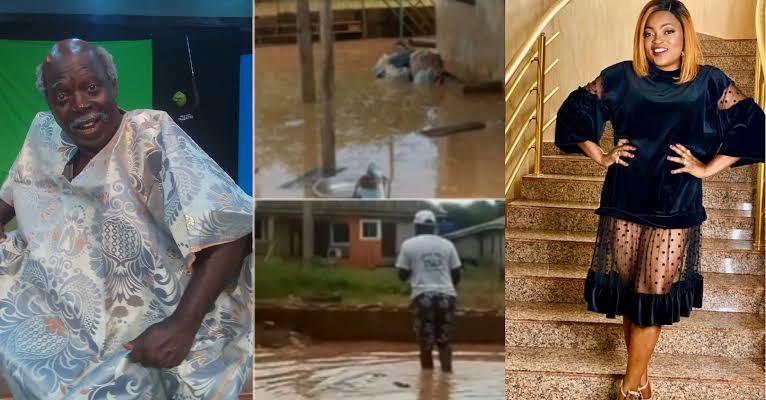 Funke Akindele Gifts Pa James A New Apartment After His House In Lagos Was Overrun With Flood 1